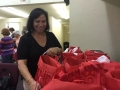 Distributing the bags at the Cafe of Life