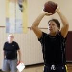 Chris Spina plays basketball