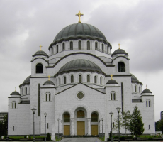 An Orthodox Church in Belgrade, Serbia