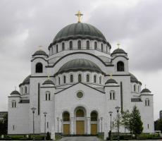 An Orthodox Church in Belgrade, Serbia