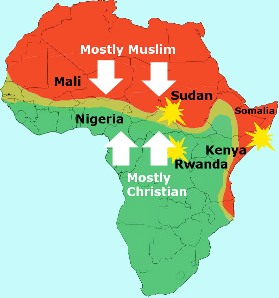 "islam africa thesis Free essay: ""there are about 16 billion muslims, or 23% of the world's  population,  islam was spread to north africa as a result of conquest over  african tribes,."