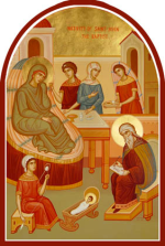 Icon depicting the Nativity of John the Baptist