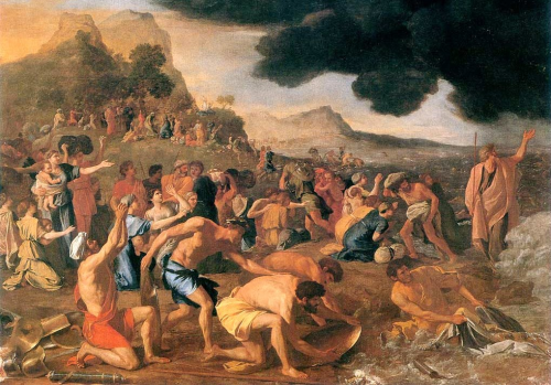 Moses and the Israelites crossing the Red Sea