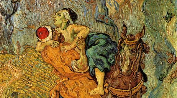 The Good Samaritan by Vincent Van Gogh (detail)