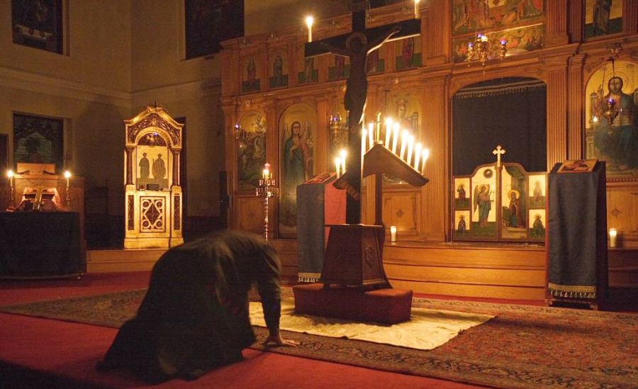 Prostration before the Cross of Christ