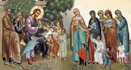 Jesus teaching the children