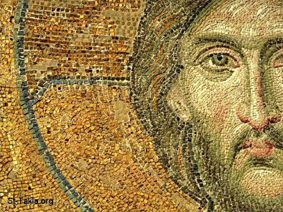 Ancient Mosaic of Jesus Christ