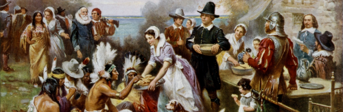 Popular American painting of the first Thanksgiving