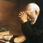 Man giving thanks to God
