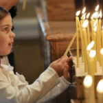 Lighting the Candles before Worship