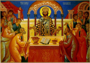 Icon of the Holy Eucharist
