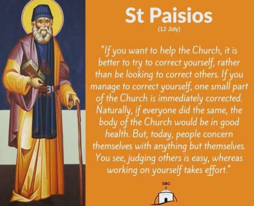 St. Paissios on how to help the Church
