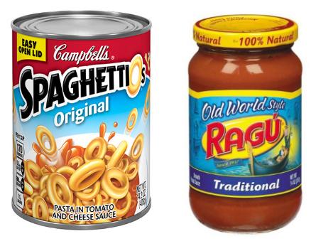 Kids love Spaghettios