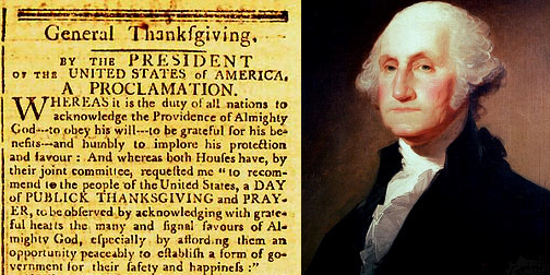George Washington Thanksgiving Proclamation