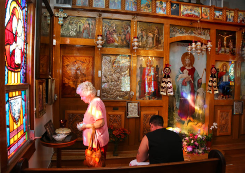 Interior of St. Michael the Archangel Shrine