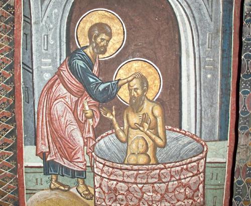 St. Ananias Baptizing Saul (St. Paul)