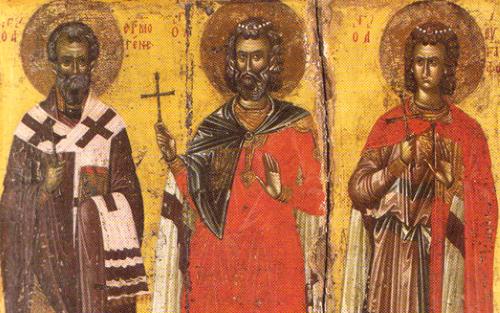 Martyrs Menas, Eugraphos & Hermogenes