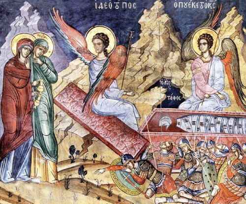 The Myhrr Bearing Women at Christ's Tomb