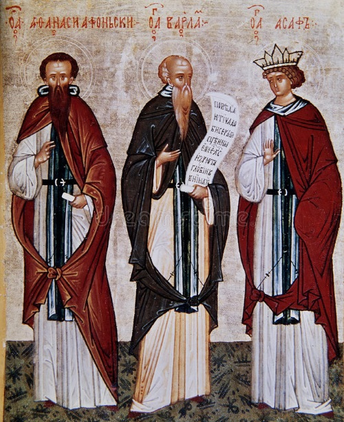 St Athanasius of Athos, Monk Barlaam and Venerable Joasaph of India
