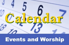 Worship times and other events