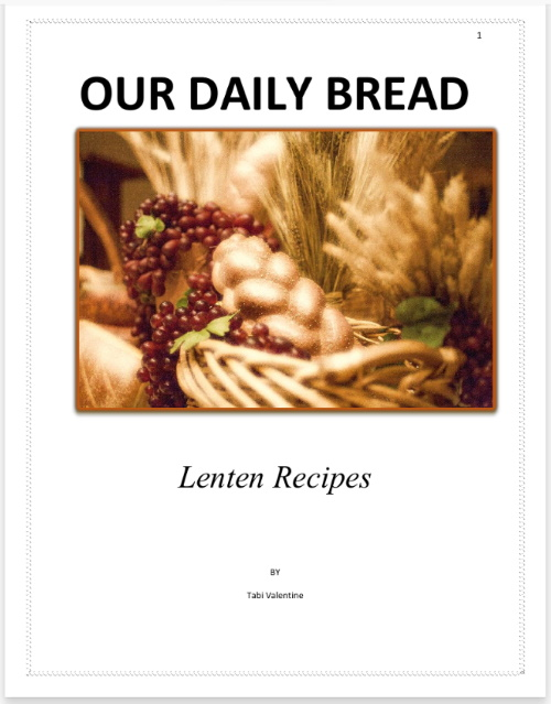Lenten Recipies