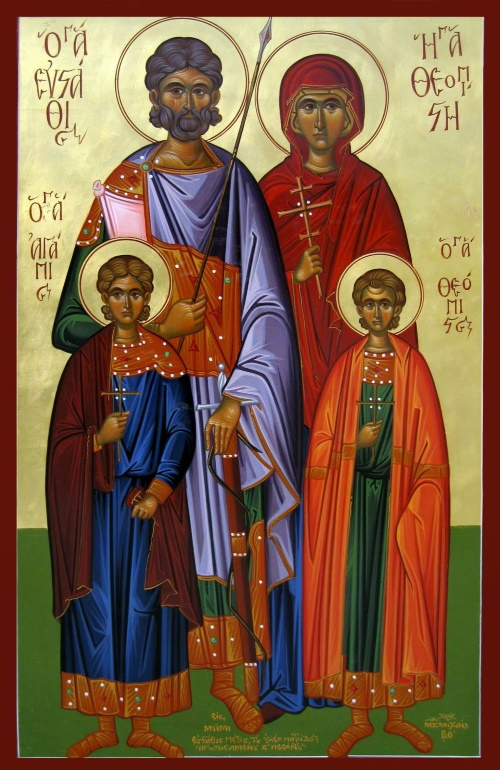 St. Eustathios and his family