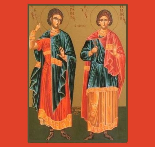 The Holy Martyr Paramon (left) and Companion