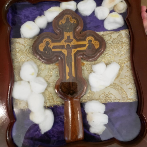 Myrrh-bearing Cross Returns to St. Peters